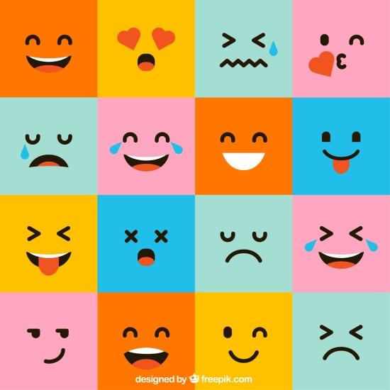 dessins stylisés représentant 16 émotions