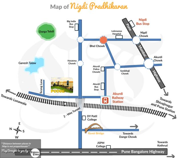 Map-of-PCCOE-ravet-bridge-nigdi-pradhikaran-area