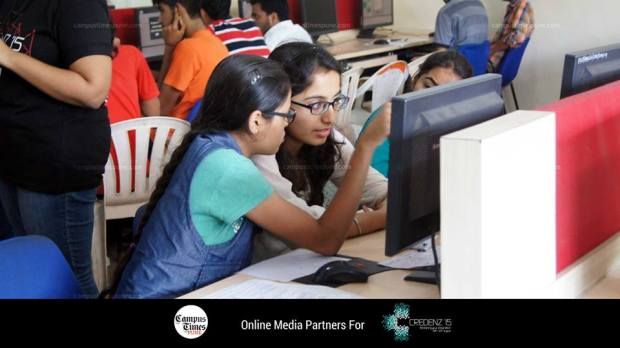 Participants in Code War at PICT Pune Credenz 15
