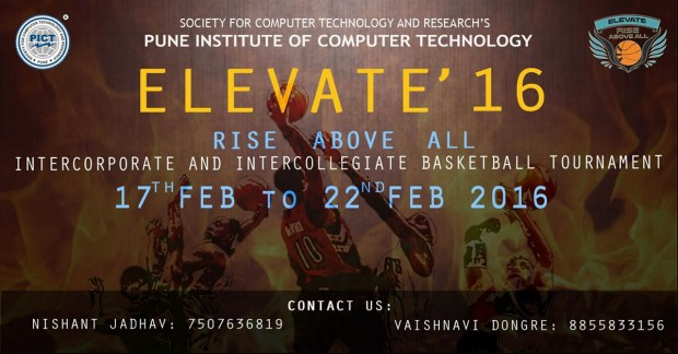 pict elevate 2016 event poster basketball