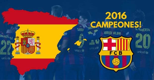 barcelona la liga champions 2016 spain