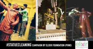 Statue-Cleaning-Campaign-Elixir-Foundation-Pune