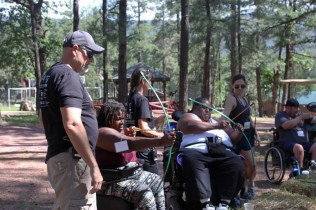 Mary and Duane archery