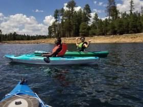 Kayaking Bri and Maggie