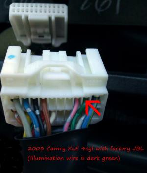 Aftermarket Radio Install Tip  GEN5  2003 Camry utilizing factory JBL amp  Camry Forums