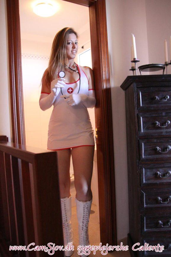 Sygeplejersken vasker din jomfrupik