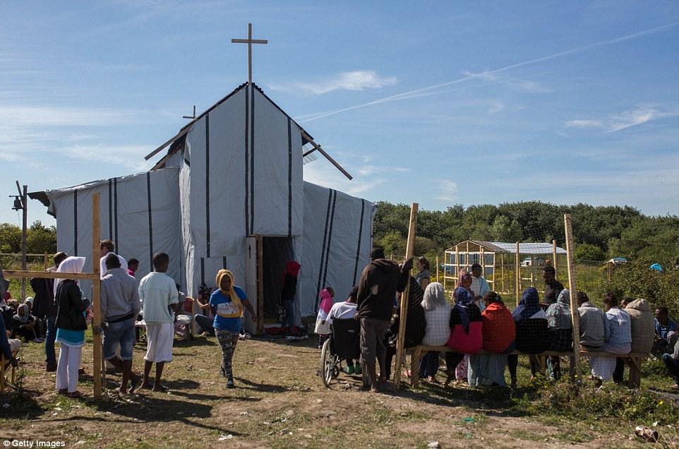 Church in Calais Refugee Camp