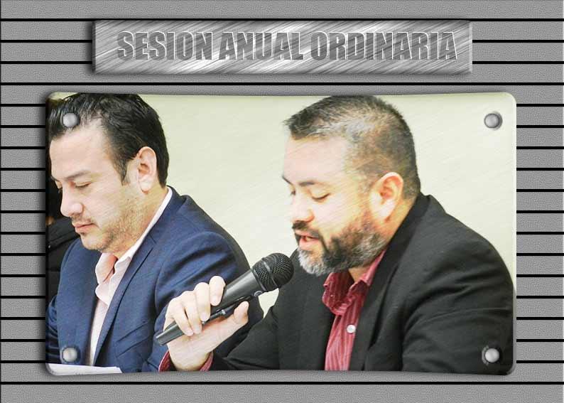 Lectura del informe del Lic. Alejandro Jara