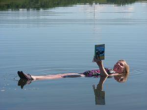 Lucy Izon in Little Manitou Lake