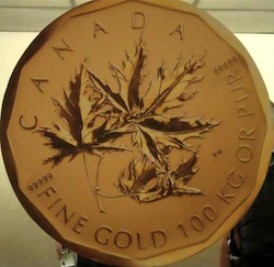 Million Dollar Coin - Royal Canadian Mint