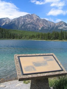 Patricia Lake, Jasper, Operation Habbakuk plaque © Lucy Izon