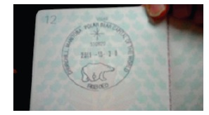 Polar Bear stamp in Passport