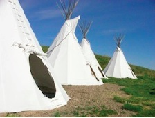 TiPi's you can stay in at Grasslands Nat Pk © Lucy Izon