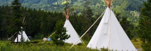 Tipi camping at Crandell Mountain Campground © Parks Canada