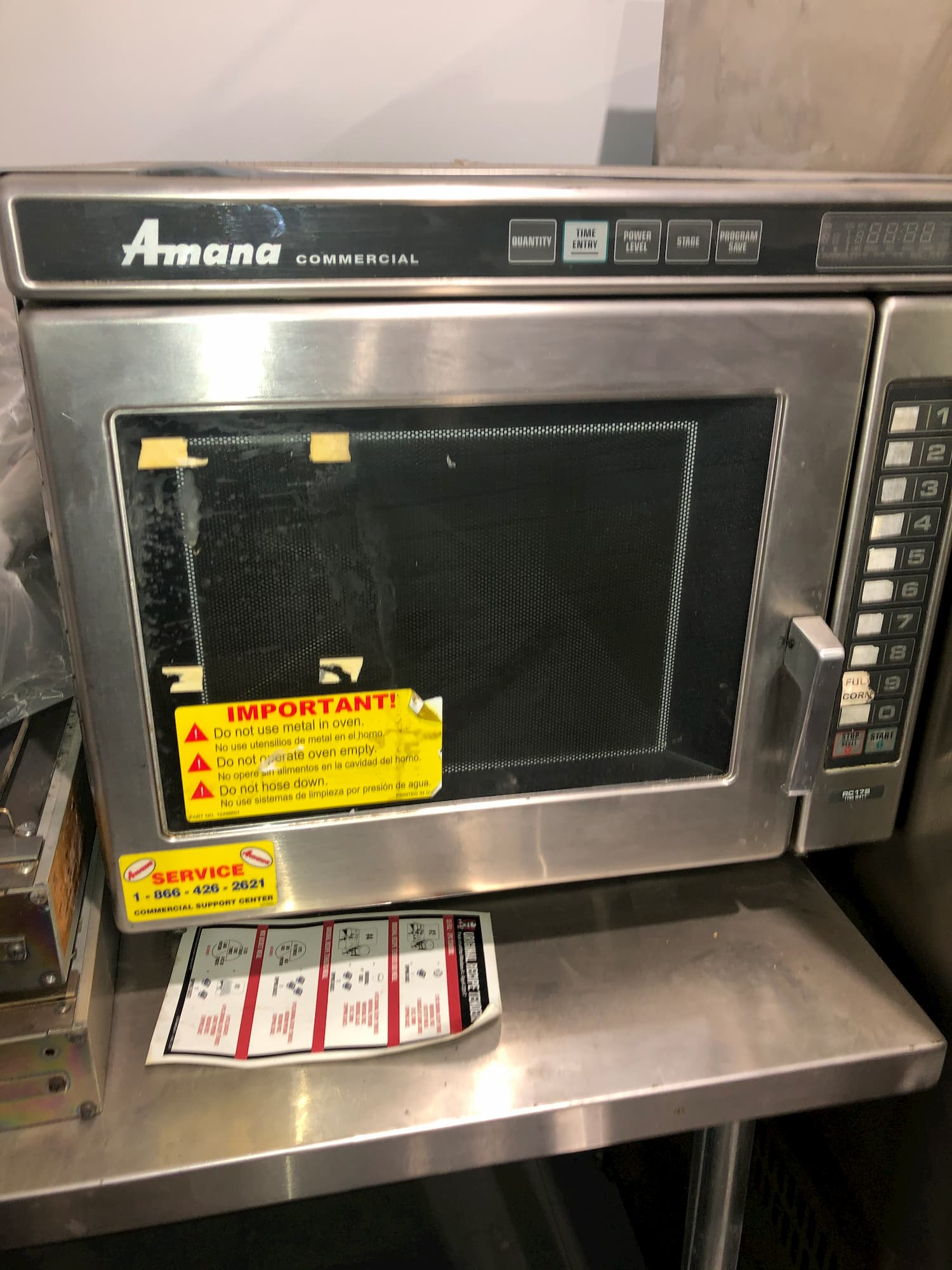 amana commercial microwave model rc17s
