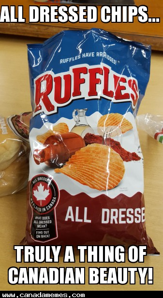 All Dressed Chips....Truly a thing of Canadian beauty!