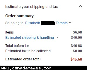 The joys of sending stuff to Canada from Amazon