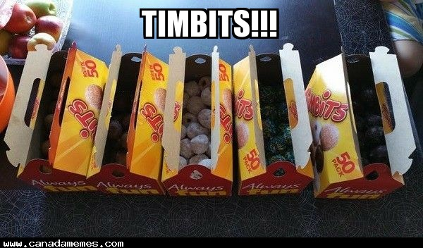 When you get into work and find out theres timbits!