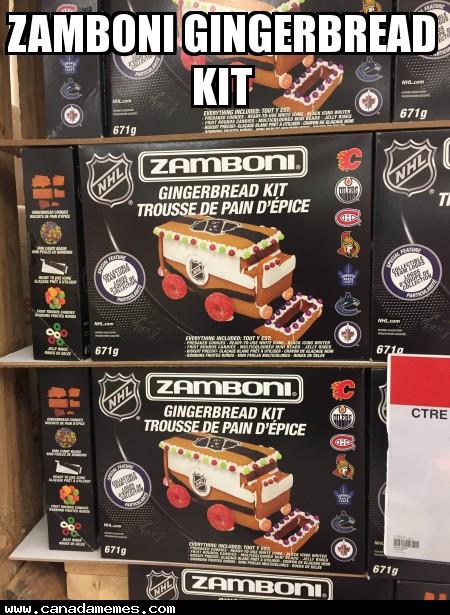 Zamboni Gingerbread Kit!!