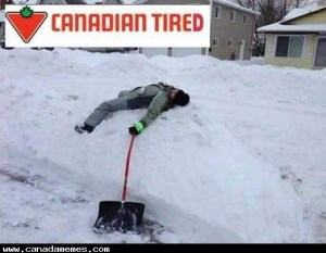 How I'm feeling right now after shoveling snow