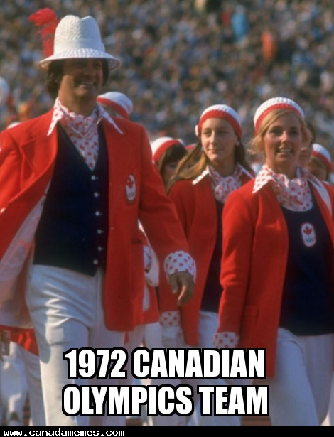 I present to you the 1972 Canadian olympics team