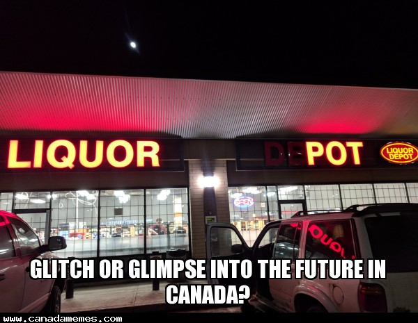 Glitch or glimpse into the future in Canada?