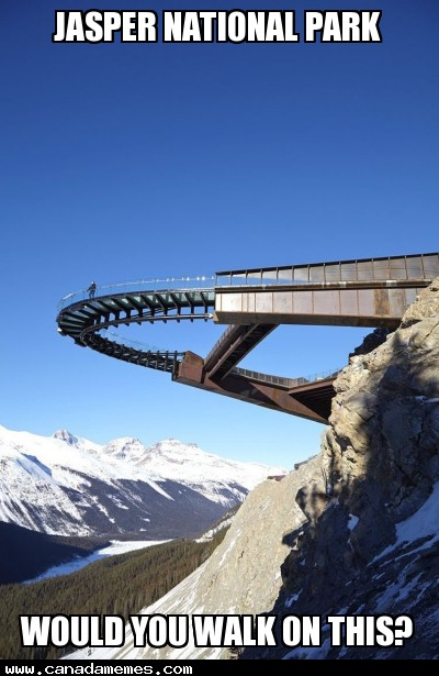 Jasper National Park - Would you walk on this?