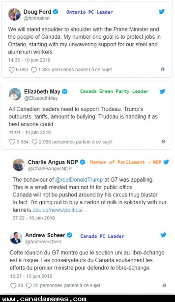 Canada Stands United - We won't be pushed around, sorry