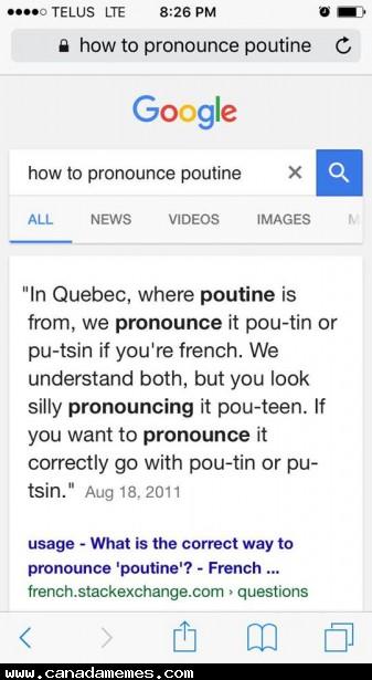 🇨🇦 How do you pronounce Poutine?