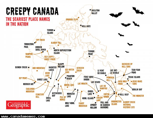 🇨🇦 Creepy Canada: The scariest place names across Canada