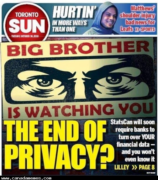 🇨🇦 Trudeau Supports Stats Canada taking everyones banking information without consent
