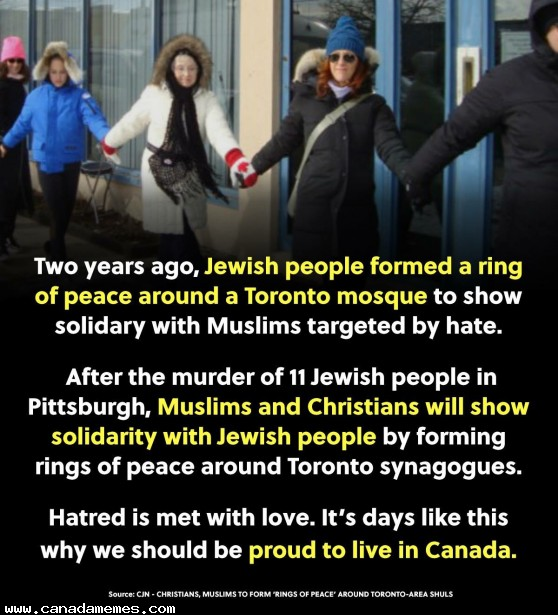 🇨🇦 People helping people regardless of race or religion