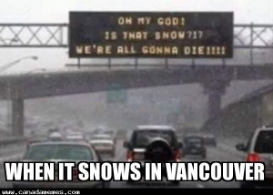 When it snows in Vancouver
