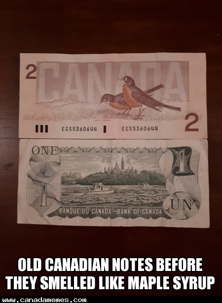 🇨🇦 #TBT Throwback Thursday - Old Canadian notes before they smelled like Maple Syrup