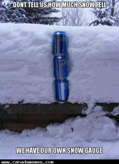 🇨🇦 If you use cans of beer to measure snowfall, you might be Canadian