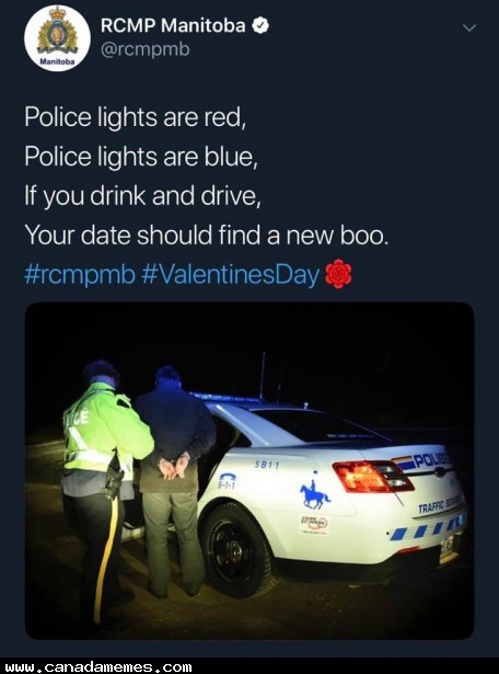 🇨🇦 Happy Valentines Day from the Manitoba RCMP