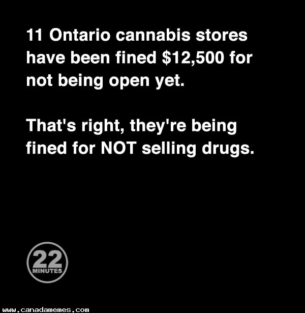 🇨🇦 11 shops fined for NOT selling drugs
