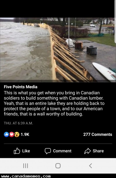 🇨🇦 This is wall worthy of building!