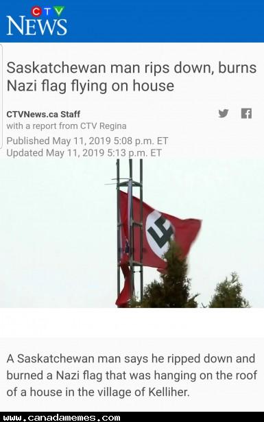 🇨🇦 An Anti-Swastika Saskatchewan Man de-swastikas a Saskatchewan house