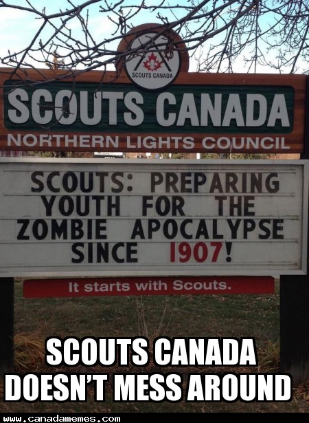🇨🇦 Scouts Canada doesn't mess around