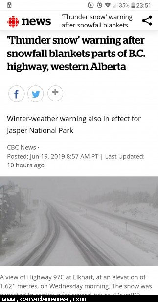 🇨🇦 Just a heads up that it is still snowing in parts of Alberta.......