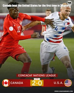 Go Canada - Canada Men's Soccer beat the United States for the first time in 34 years!