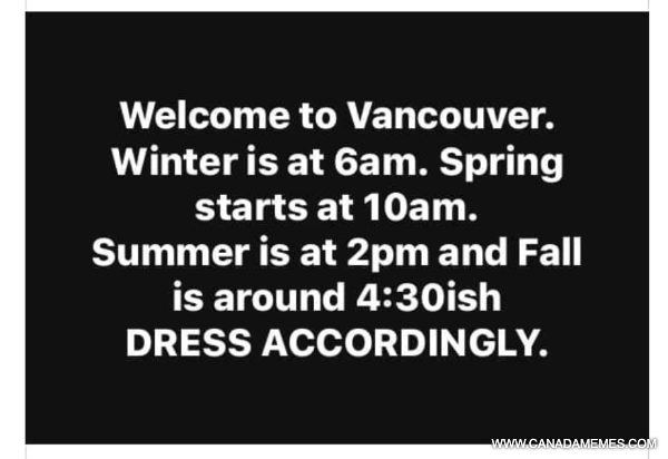 🇨🇦 Welcome to Vancouver weather