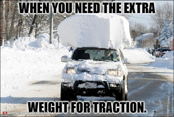 When you need the extra weight for traction