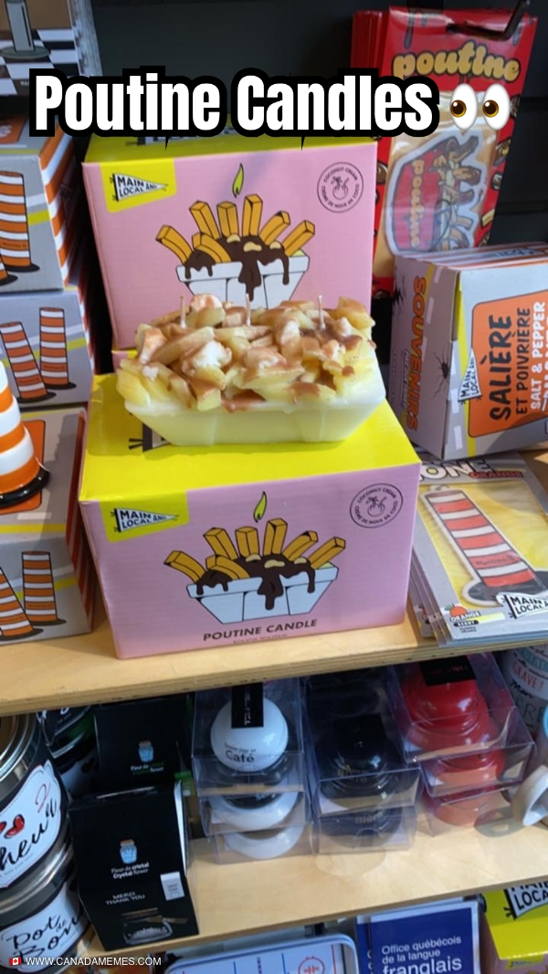 OMG a Poutine Candle