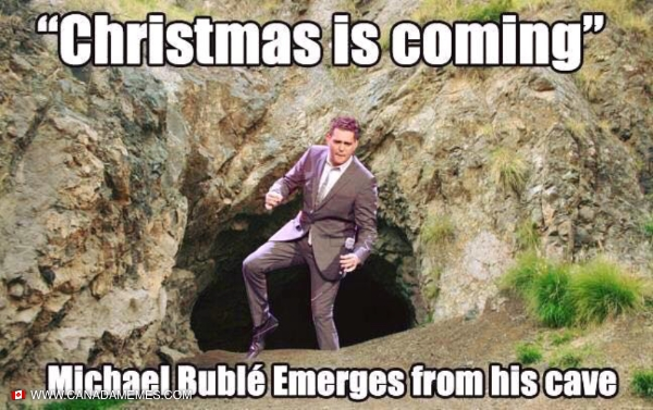 Dec 1st Michael Buble Emerges from his cave