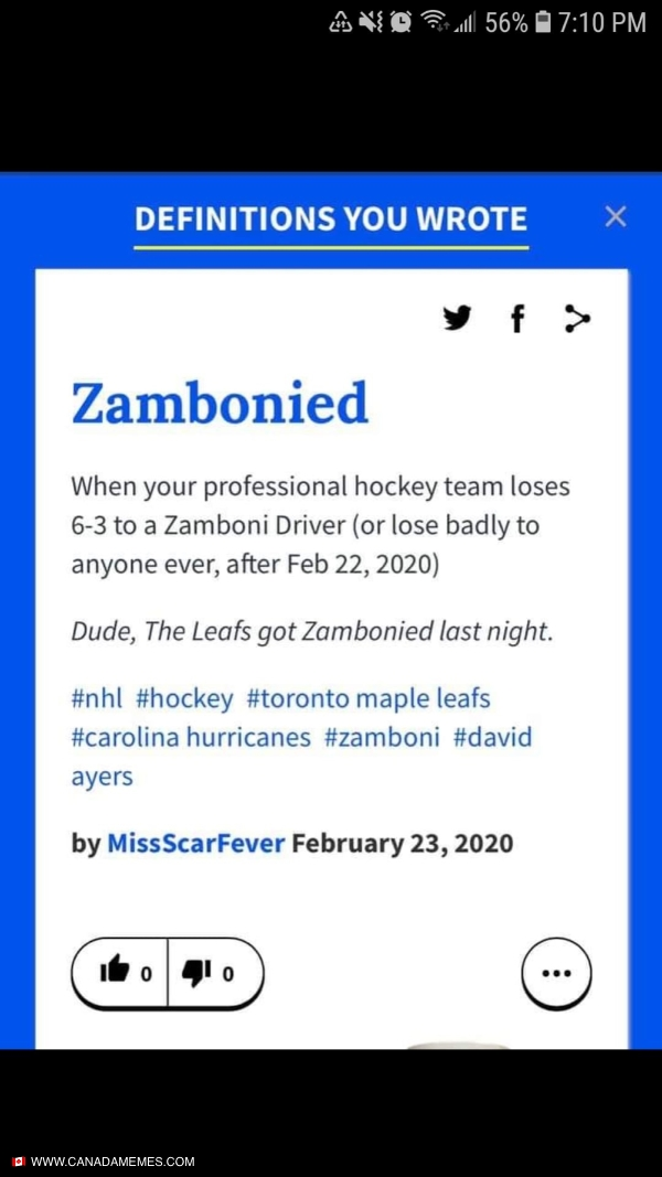 Zambonied is now a term!