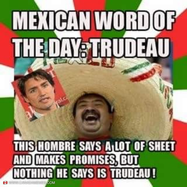 Mexican word of the day: Trudeau