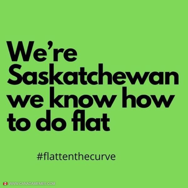 Flatten the curve - Saskatchewan Style!