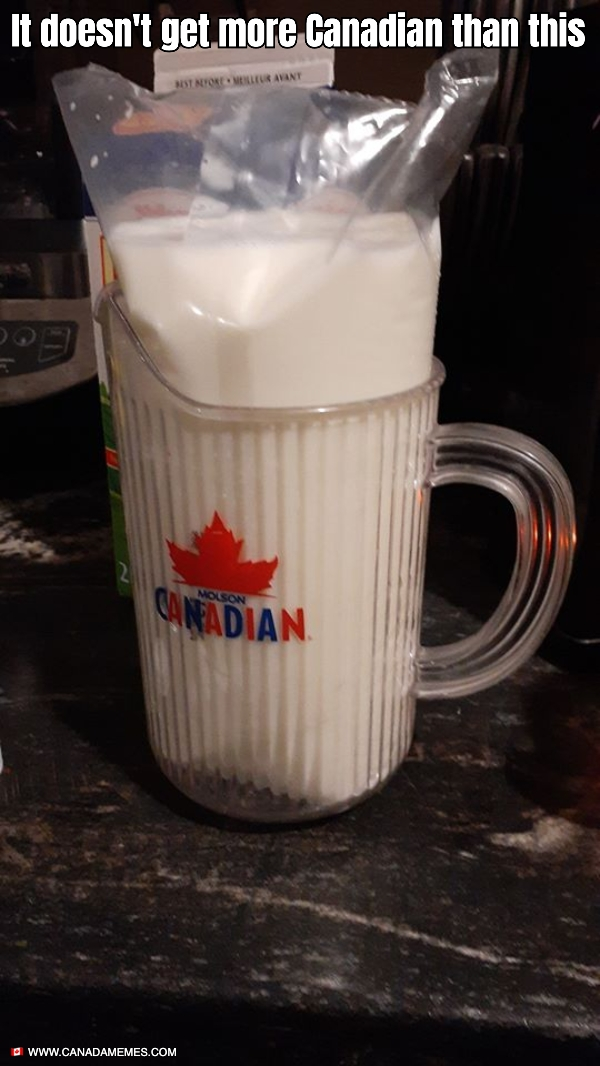 It doesn't get more Canadian than this